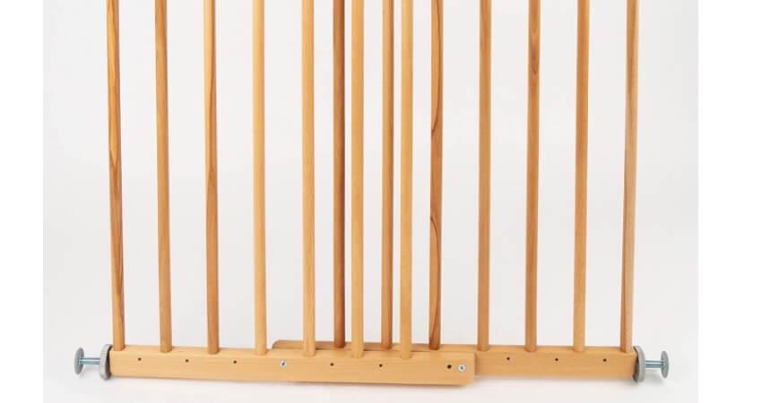 DOLLE Türschutzgitter aus Holz | Klemmgitter nicht zum Öffnen | Breite: 61,0-101,7 cm | Höhe: 70 cm | Sicherheitsgitter | Türgitter | ohne Bohren | TÜV/GS geprüft | Massivholz