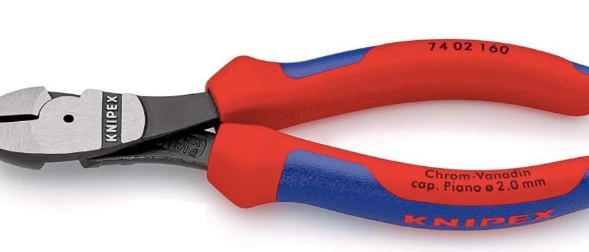 KNIPEX 74 02 160 SB Kraft-Seitenschneider schwarz atramentiert mit Mehrkomponenten-Hüllen 160 mm