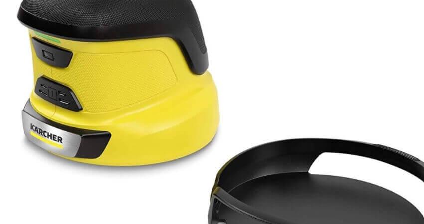 Kärcher EDI 4 Elektrischer Eiskratzer (Akkubetrieben, 15 min Laufzeit, für die Autoscheibe, 540 g Gewicht, Schutzkappe, mit Ladegerät)