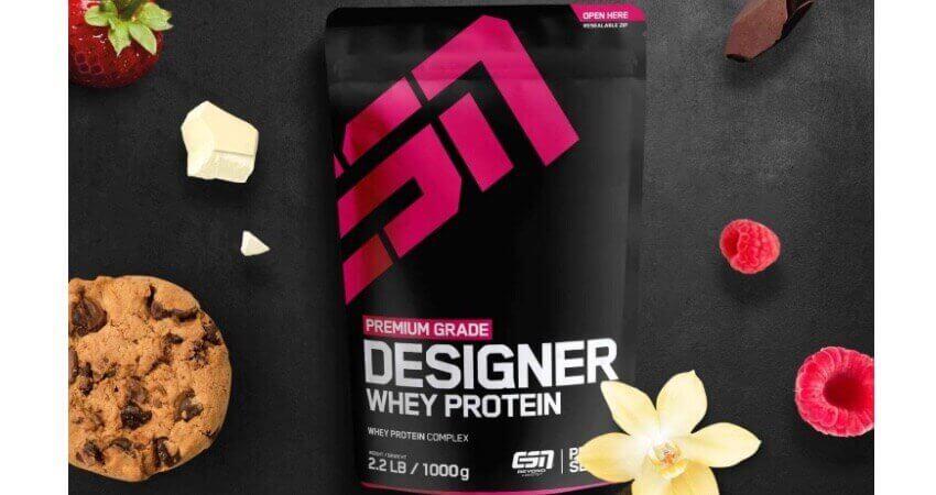 ESN Designer Whey Protein – 1000g – Chocolate – Eiweißpulver reich an essentiellen Aminosäuren (EAAs) – Sehr gut löslich – 33 Portionen – Made in Germany