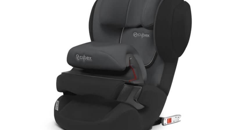 CYBEX Silver Kinder-Autositz Juno 2-Fix, Für Autos mit ISOFIX, Autositz Gruppe 1 (9-18 kg), Gray Rabbit